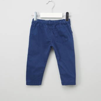 Juniors Applique Detail Pants with Button Closure