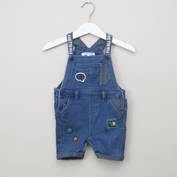 Juniors Striped T-Shirt with Dungarees