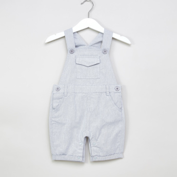 Juniors Polo Neck T-shirt with Solid Dungarees