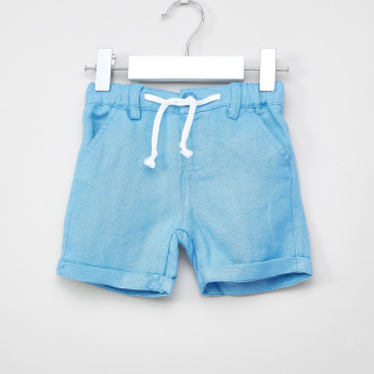 Giggles Textured Shorts with Drawstring
