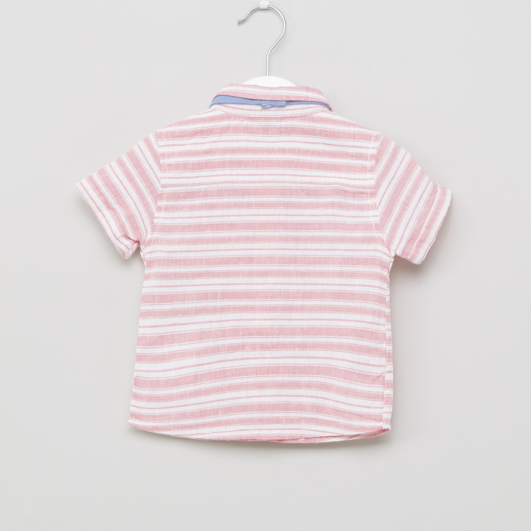 Giggles Striped Bow Applique Shirt with Pants