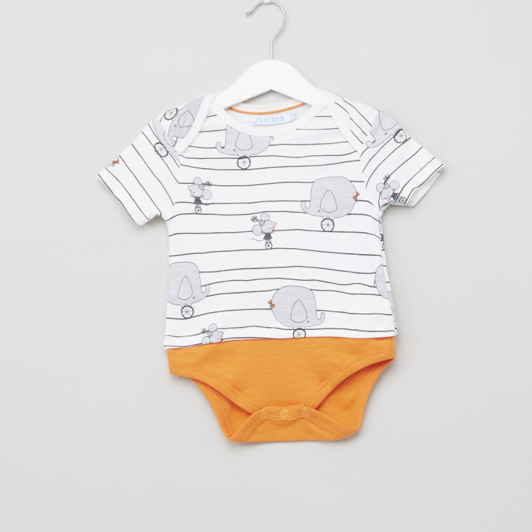 Juniors Printed Romper with Bib
