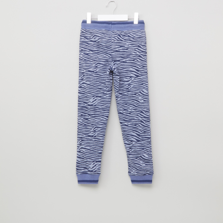 Juniors Printed Jog Pants with Pocket Detail and Drawstring