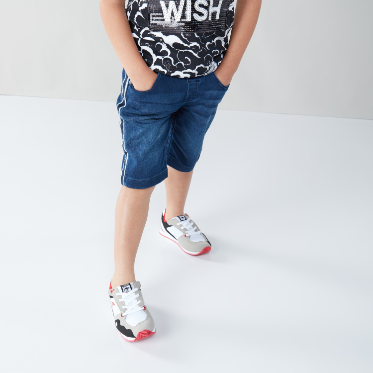 Juniors Denim Cotton Shorts with Pocket Details