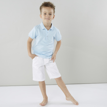 Juniors Solid Shorts with Pocket Detail