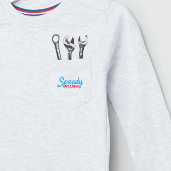 Juniors Printed Long Sleeves T-Shirt