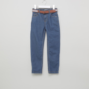 Eligo Pocket Detail Jeans with Belt