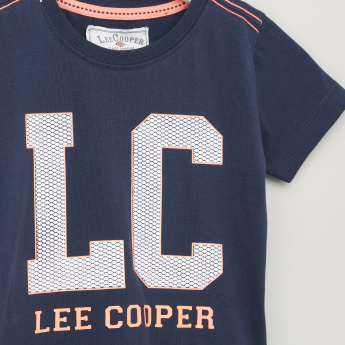 Lee Cooper Graphic Printed Round Neck T-shirt