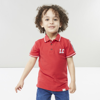 Lee Cooper Polo Neck T-shirt with Contrasting Stripes