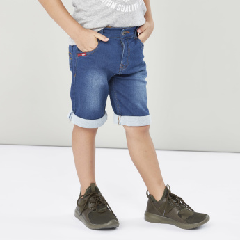 Lee Cooper Printed T-shirt with Pocket Detail Shorts