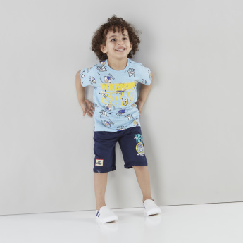 Toy Story Printed Shorts with Pocket Detail and Drawstring
