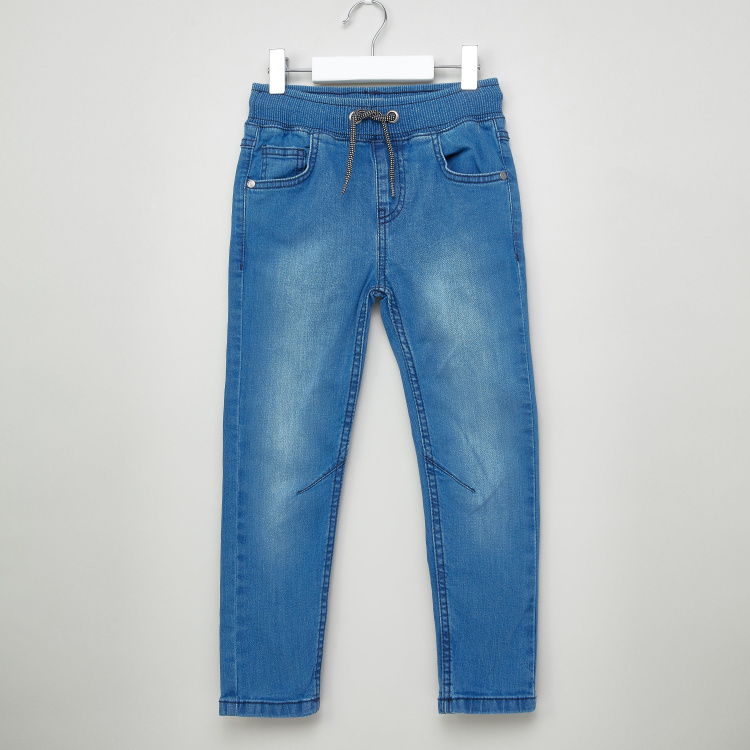 Juniors Pocket Detail Jeans with Drawstring