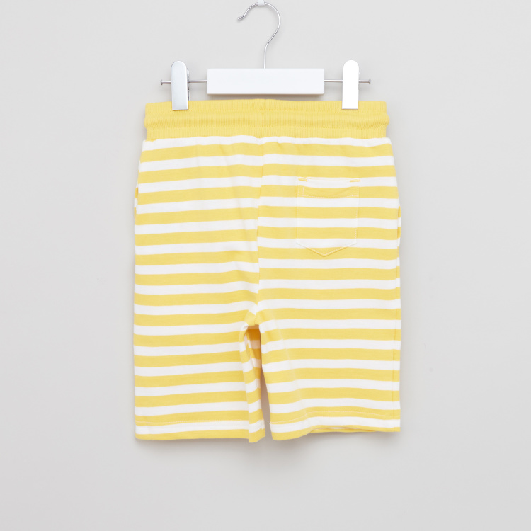 Juniors Striped Shorts with Drawstring