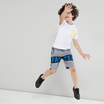 Juniors Printed Shorts with Pocket Detail and Drawstring