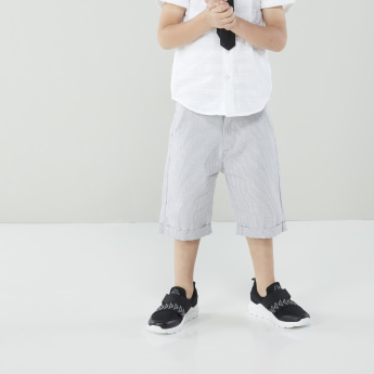 Juniors Short Sleeves Shirt with Chequered Shorts