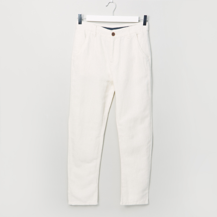Eligo Pocket Detail Pants with Button Closure