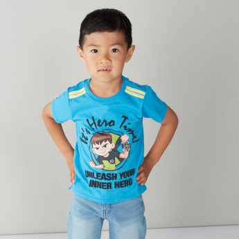 Ben 10 Printed T-shirt with Short Sleeves and Round Neck