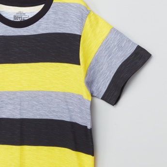 Posh Striped Short Sleeves T-Shirt