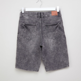 Posh Pocket Detail Denim Shorts