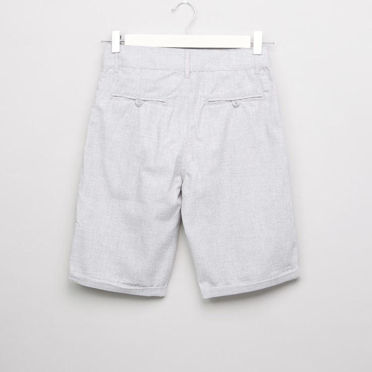 Posh Clothing Cotton Shorts with Pockets