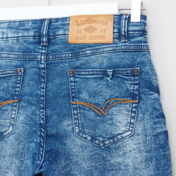 Lee Cooper 5-Pocket Drawstring Denim Shorts