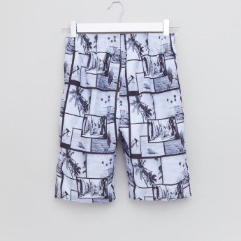 Posh Printed Swim Shorts with Drawstring