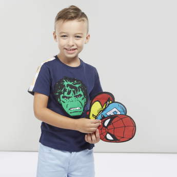Round Neck T-shirt with Avengers Mask