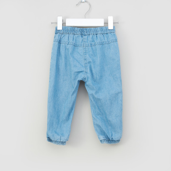 Juniors Bow and Pocket Detail Jeans with Elasticised Waistband
