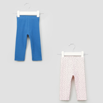 Juniors Full Length Leggings with Elasticised Waistband - Set of 2