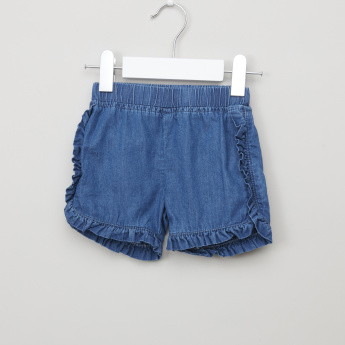 Juniors Denim Top with Shorts