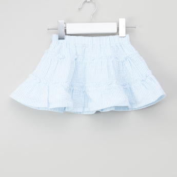 Giggles Striped Skirt with Elasticised Waistband