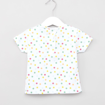 Sanrio Hello Kitty Polka-Dot Printed T-shirt