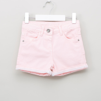 Juniors Pocket Detail Shorts