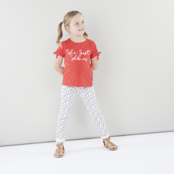 Juniors Printed Cotton Pants