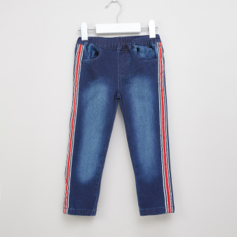 Juniors Side Tape Detail Pants with Pockets