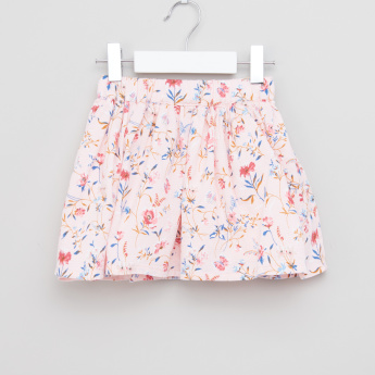 Eligo Floral Printed Skirt with Elasticised Waistband