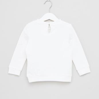 Eligo Schiffli Detail Long Sleeves Pullover