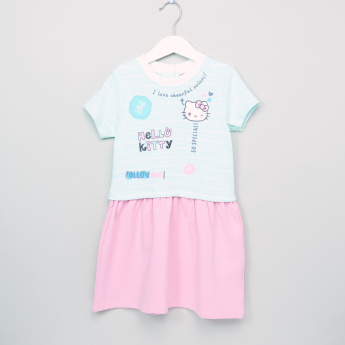 Hello Kitty Printed Short Sleeves Dress