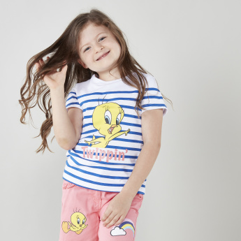 Tweety Printed Cotton T-shirt and Shorts Set