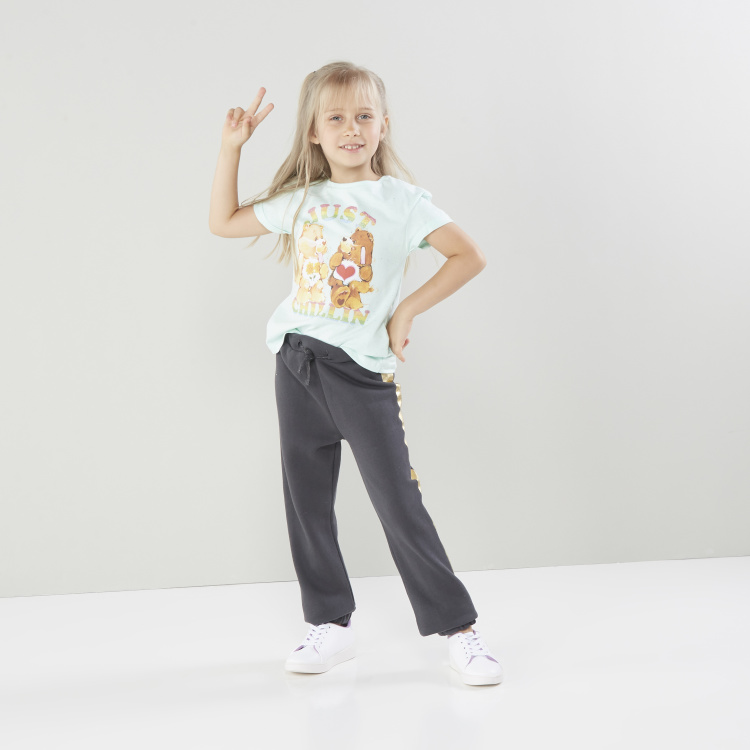 American Greetings Graphic Print Round Neck T-shirt with Short Sleeves