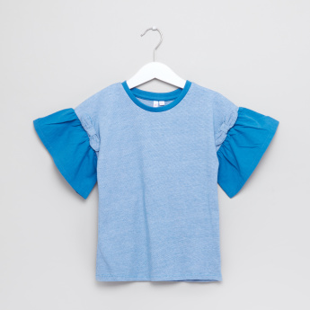 Juniors Flared Sleeves Top