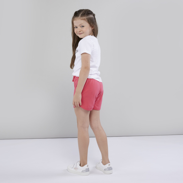 Juniors Solid Shorts with Elasticised Waistband