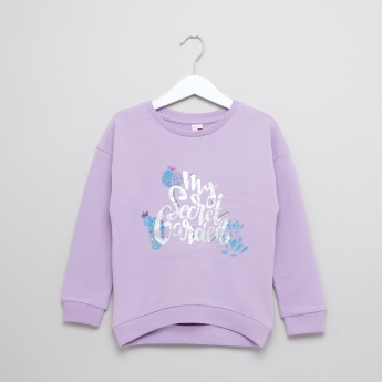 Juniors Graphic Printed Pullover