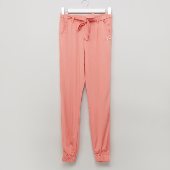 Eligo Woven Jog Pants with Tie Up Belt