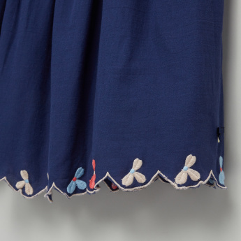 Eligo Embroidered Skirt with Elasticised Waistband