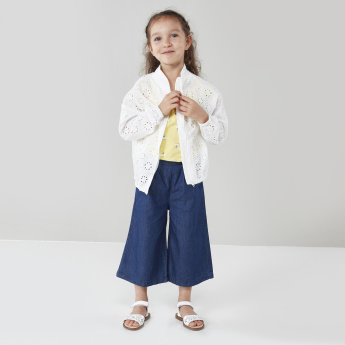 Eligo Zip-Front Cotton Jacket with Cutouts