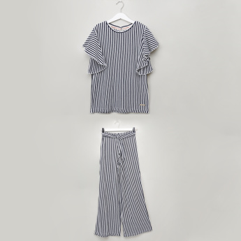 Lee Cooper Striped Top with Palazzos
