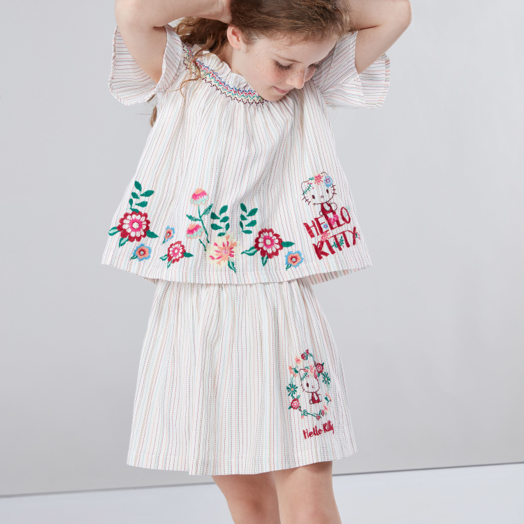 Hello Kitty Embroidered Skirt