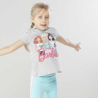 Mattel Barbie Graphic Printed Short Sleeves T-shirt