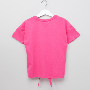 Barbie Printed Round Neck Top
